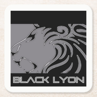 pos black Lyons Square Paper Coaster