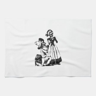 Posada Cavalera Courting Skeleton Couple Towels