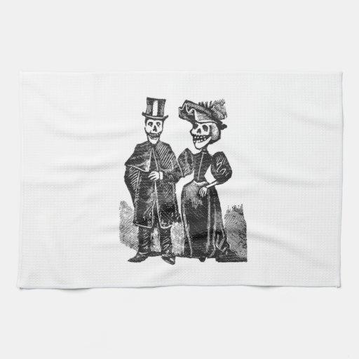 Posada Skeleton Couple Kitchen Towels