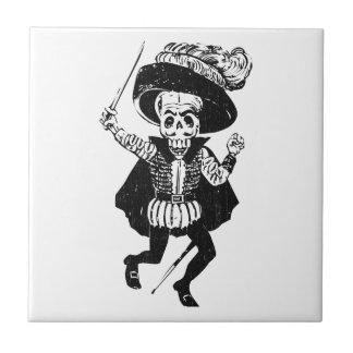 Posada Swashbuckling Calavera (Skeleton) Ceramic Tile