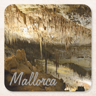 posavasos Caves of the Drach in the island of Square Paper Coaster