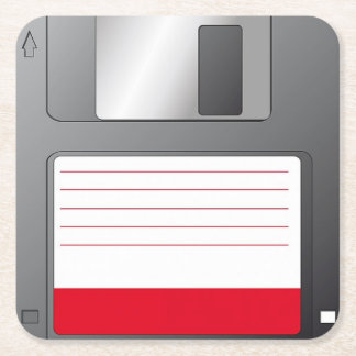 Posavasos Floppy disk disk Square Paper Coaster