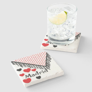 Posavasos of marble stone Madrid Spain Stone Coaster