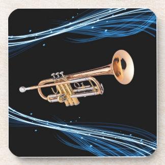 Posavasos trumpet player coasters