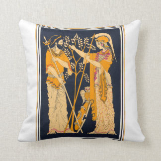 Poseidon and Athena Cushion