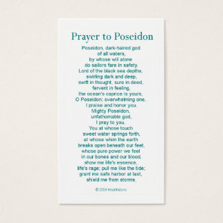 Poseidon Prayer Card