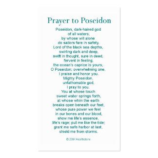 Poseidon Prayer Card Business Cards