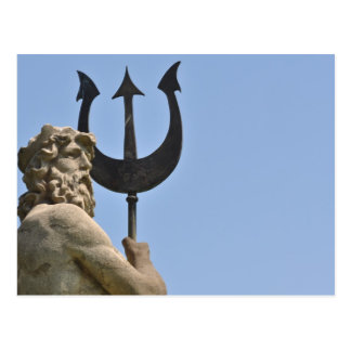 Poseidon Statue in Barcelona Spain Postcard