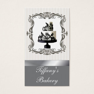 Posh Boutique Bakery Wedding Cake Business Cards