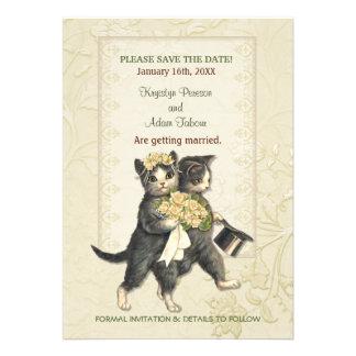 Posh Cats Wedding Announcement