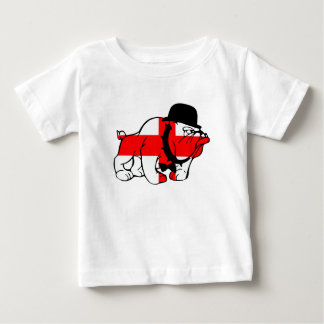 Posh English Bulldog English flag Baby T-Shirt