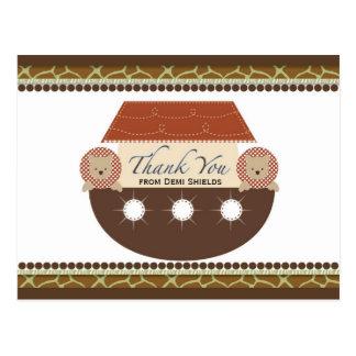 Posh Noah's Ark Flat Thank You Card