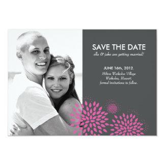 Posh Petals   Berry   Save the Date 13 Cm X 18 Cm Invitation Card