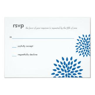 Posh Petals | Cerulean | RSVP 9 Cm X 13 Cm Invitation Card