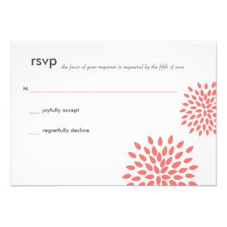 Posh Petals | Coral | RSVP Personalized Invite