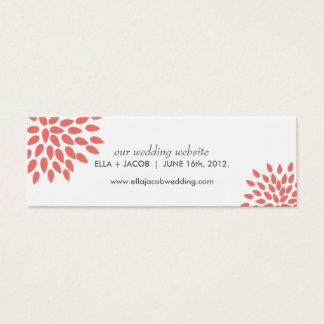 Posh Petals   Coral   Wedding Website Cards