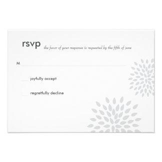 Posh Petals | Silver | RSVP Personalized Invitation