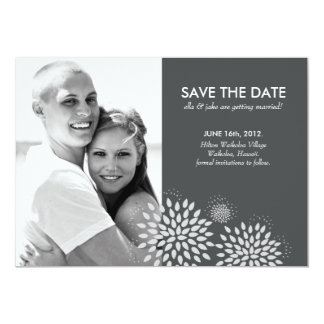 Posh Petals | Silver | Save the Date Card