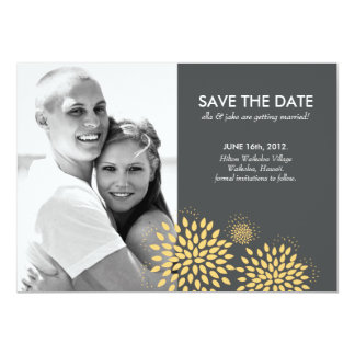 Posh Petals | Sunlight | Save the Date 13 Cm X 18 Cm Invitation Card