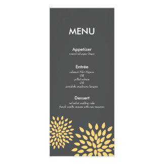 Posh Petals | Sunshine | Reception Menu Card Invitation
