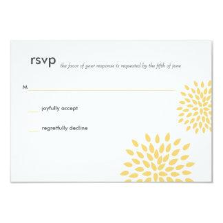 Posh Petals | Sunshine | RSVP Card 9 Cm X 13 Cm Invitation Card
