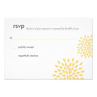 Posh Petals Sunshine RSVP Card Personalized Invite