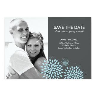 "Posh Petals | Twilight | Save the Date 5"" X 7"" Invitation Card"