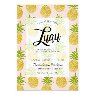 Posh Pineapple Luau Invite