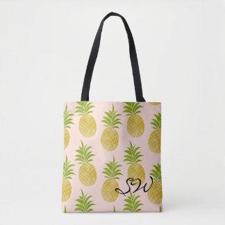 Posh Pineapple Monogrammed Tote