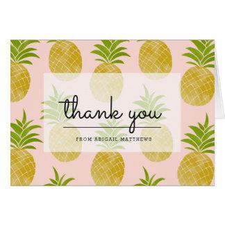 Posh Pineapple Thank You Card