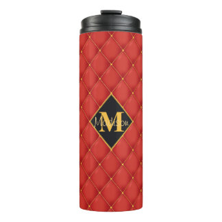 Posh Quilted Red & Bling Thermal Tumbler