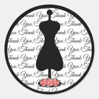 Posh Thank you Classic Round Sticker