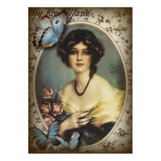 Posh Vintage Butterfly Paris Lady Fashion Pack Of Chubby Business Cards