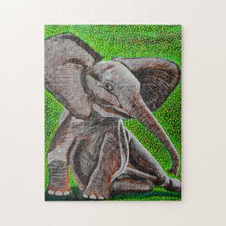 Posing Baby Elephant Puzzle