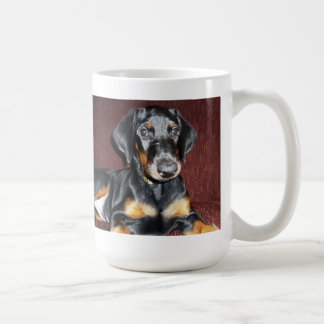 Posing Doberman Pinscher Puppy Mug