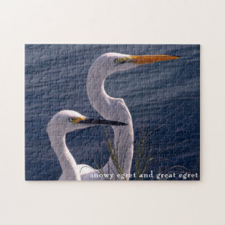 Posing Egrets Jigsaw Puzzle
