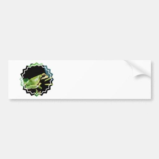 Posing Frog Bumper Sticker