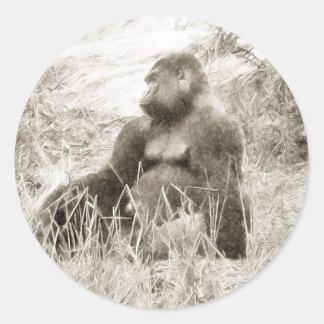Posing Gorilla Sketch Stickers