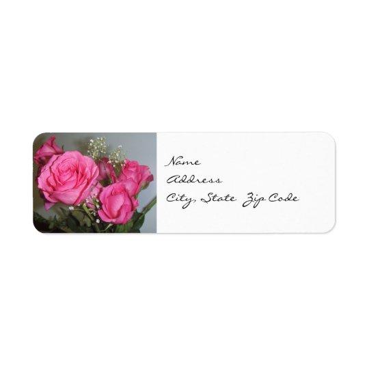 Posing Roses Return Address Labels