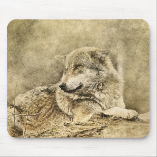 Posing Wolf Mouse Pad