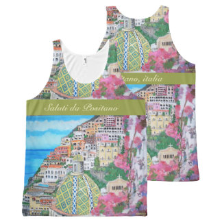 Positano  - All-Over Printed Unisex Tank