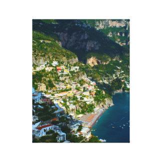 Positano Italy on the Amalfi Coast Canvas Print