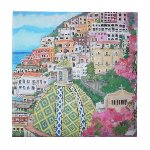 Positano, Italy tile