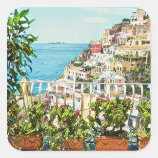 Positano Italy View Stickers