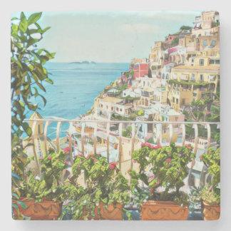 Positano Italy View Stone Coaster