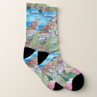 Positano, Large All-Over-Print Socks 1