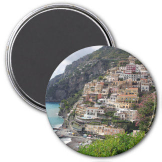 Positano village at the Amalfi coast round magnet