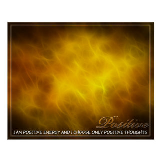 Positive Abstract Energy Poster