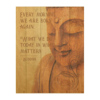 Positive Affirmation Buddhism Mindfulness Quote Wood Wall Decor