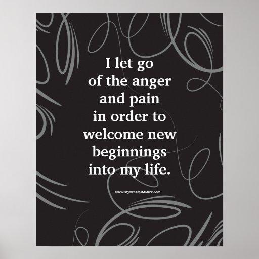Positive Affirmation Forgiveness Anger Management Print